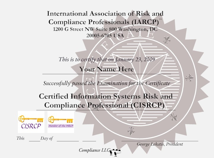 Gift 1 International Association Of Risk And Compliance
